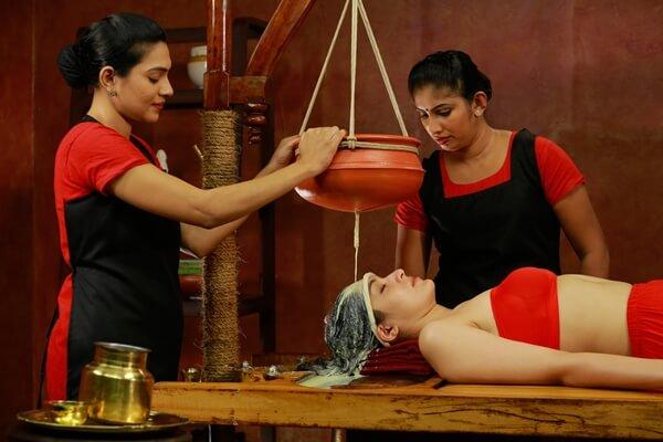 A Women going through Ayurveda Treatment